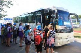 Перевозка людей на автобусе Scania